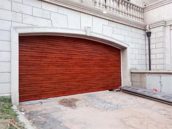 铝合金木纹车库门